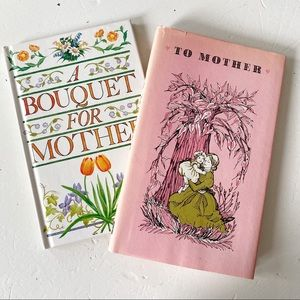 Set of 2 Vintage Books Gifts for Mother